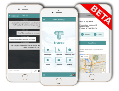 Truece Beta Screens | Truce Divorce, Custody, Co-Parenting App