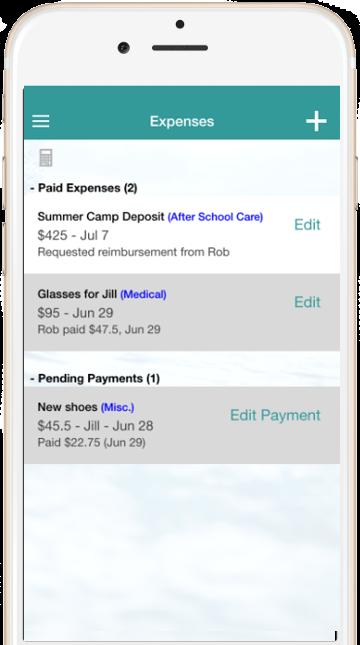 Truece Expenses | Truce Divorce, Custody, Co-Parenting App