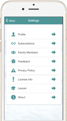 Truece Settings Menu | Truce Divorce, Custody, Co-Parenting App