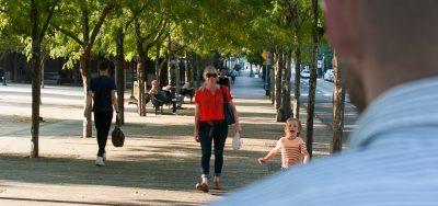 kid running toward father